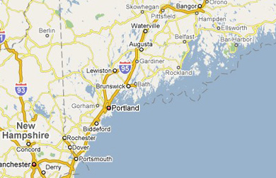 Maine Painting Residental Southern Maine Commerical Painting - Southern nh map